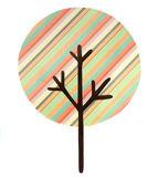 Multi полосатый дерева, вырезать — Стоковое фото