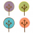 Stock Photo: A collection of round cut out trees