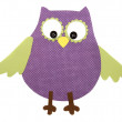 A paper cut out owl purple and green — Stock Photo #9541009