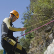 Instructor  canyoning — Stock Photo