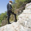 Instructor  canyoning - Stock Photo