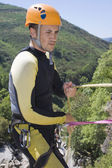 Instructor canyoning — Foto Stock
