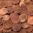 Euro cent coins — Stock Photo