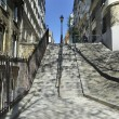 Stairs in Montmartre Paris - Stock Photo