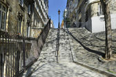 Stairs in Montmartre Paris — Stock Photo