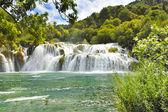 Croatie Parc national de Krka cascade — Stock Photo