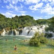 Krka National Park Croatia waterfall - Stock Photo