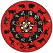 Chinese Zodiac Wheel — Stock vektor