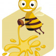 Happy Honey Bee — Stock Vector #8849820
