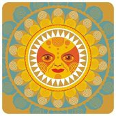 Sommerliche sonne — Stockvektor