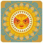 夏季太阳 — 图库矢量图片