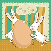 Funny Easter greeting card — Stock Vector