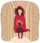 Red Riding Hood — Stock Vector
