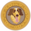 Dog Medallion — Stock Vector