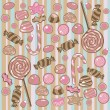 Seamless Candy Pattern — Vettoriali Stock