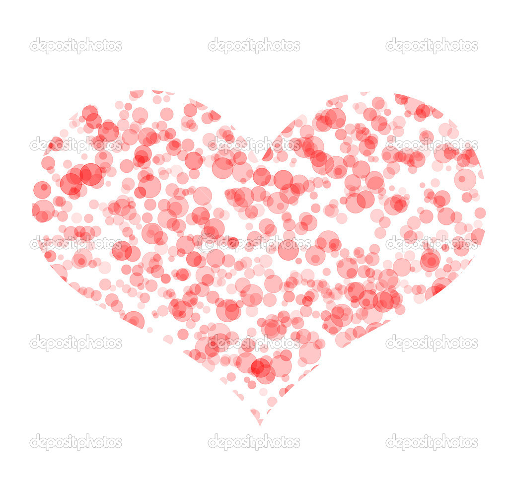 Art symbol of heart made from pink bubbles — Stock Photo ...