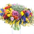 Floristry - colorful bridal bouquet of fresh flowers — Stock Photo