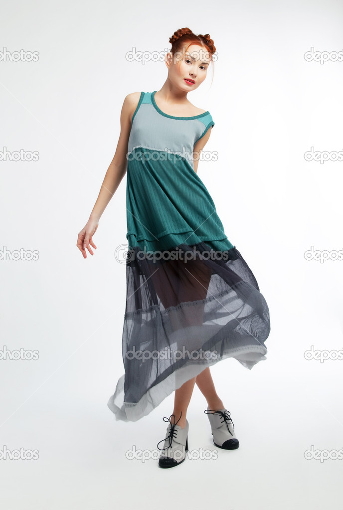 Beautiful Fashionable Asian Girl Fashion Style Photo Stock Photo Gromovataya 9049582