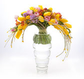 Floristry - colorful vernal flowers bouquet arrangement — Stock Photo