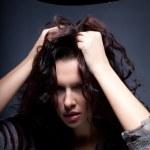 femme émotionnelle déçue — Photo