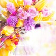 Stock Photo: Vernal flowers bouquet over blurred background