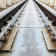 Perspective , sleepers and rails railroad — Stock Photo #8646735