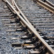 Joint , sleepers and rails railroad — Stock Photo #8649013