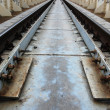 Stock Photo: Perspective , sleepers and rails railroad