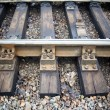 Stock Photo: Sleepers and rails railroad