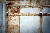 Weathered garage door — Stock Photo