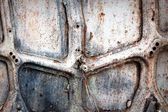 Rusty metal frame structure — Stock Photo