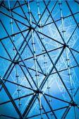 Stalen structuur bouw — Stockfoto