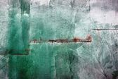 Green metal wall — Stock Photo
