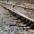 Stock Photo: Joint , sleepers and rails railroad