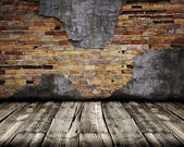 Close up of chipped brick wall — Stock Photo