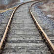 Stock Photo: Abandoned railroad ; vanishing point