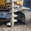 Stock Photo: Drilling machine on construction site