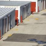 Close up of arrangement of garages — Stock Photo