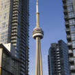 Stock Photo: Close up of Toronto CN Tower