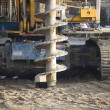 Drilling machine on construction site - Stock Photo
