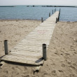 Stock Photo: Pier; waterscape with horizon and blue sky