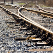 Joint , sleepers and rails railroad — Stock Photo #8710536