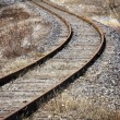 Abandoned railroad ;  vanishing point - Foto Stock