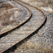 Abandoned railroad ;  vanishing point - Stock Photo