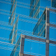 Reflecting glass of office  building — Stock Photo