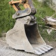 Excavator shovel - Stock Photo