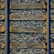 Seamless background , sleepers and rails railroad — Stock Photo #8711953