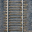 Stock Photo: Seamless background , sleepers and rails railroad