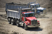 Lorry truck on dirt — Stock Photo