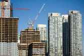 Toronto High-rise buildings under construction — Stock Photo